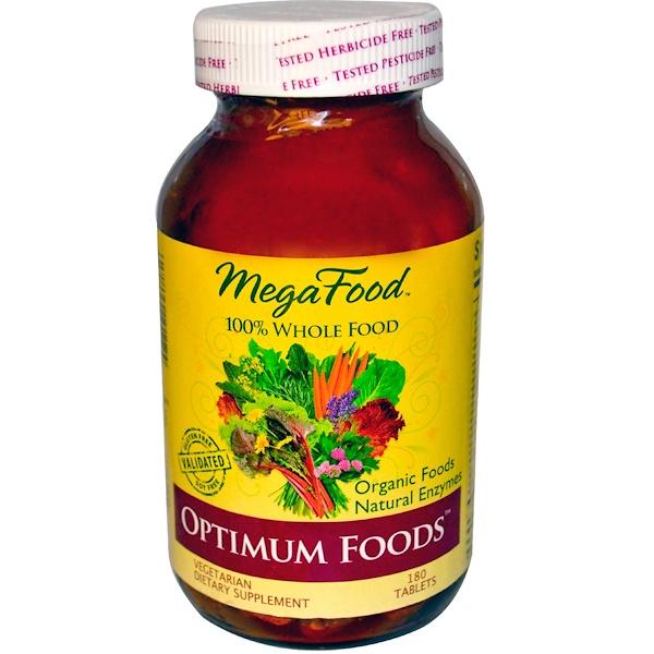 MegaFood, Optimum Foods, 180 Tablets (Discontinued Item)