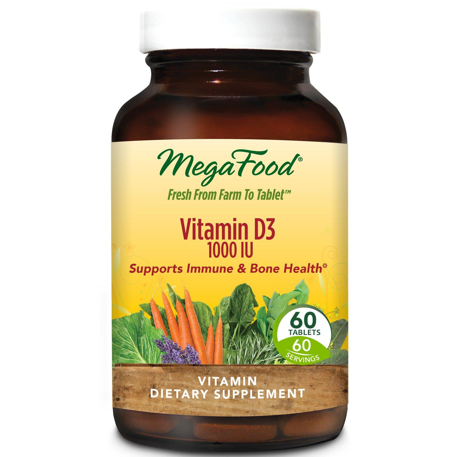 MegaFood, Витамин D3 1000 МЕ, 60 таблеток