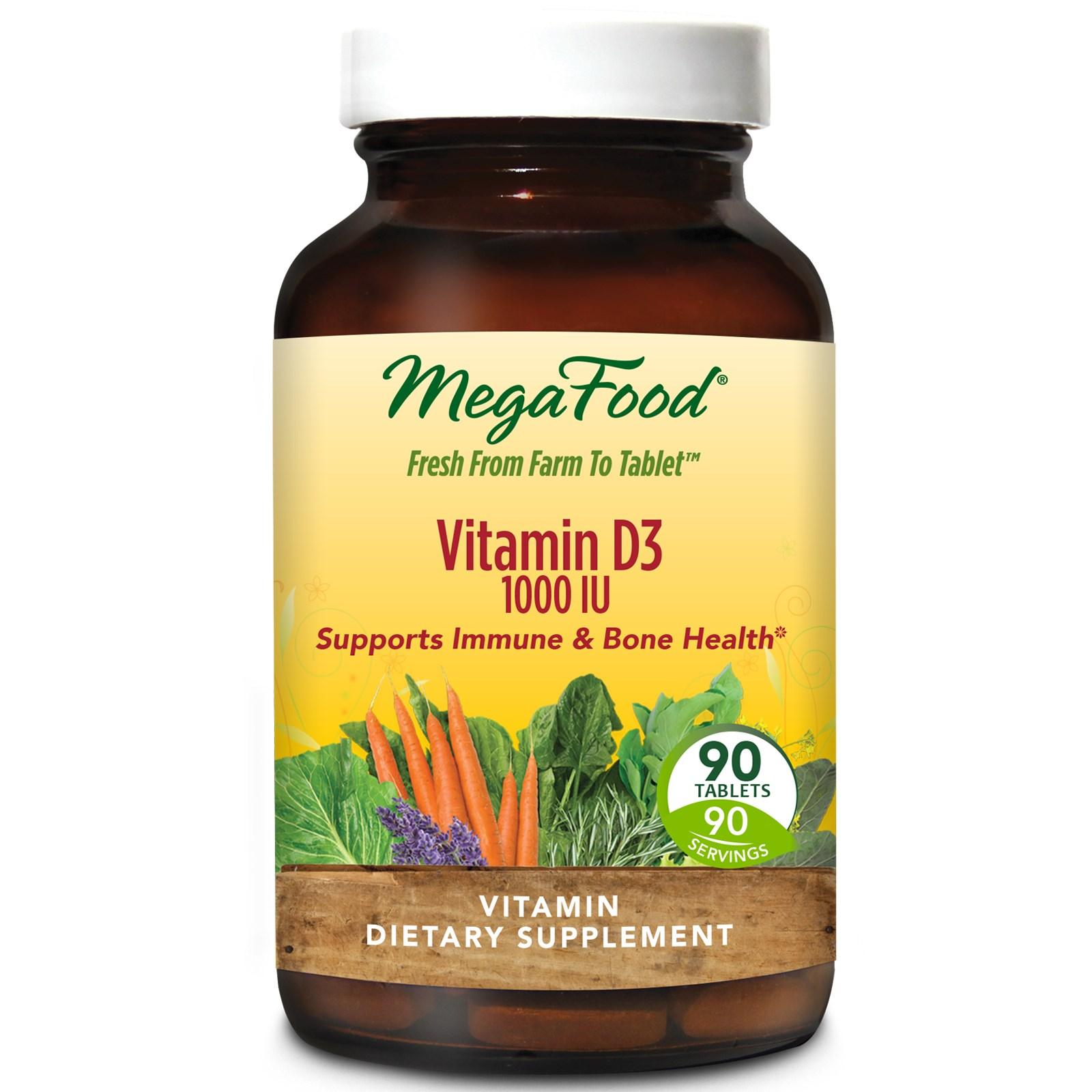 MegaFood, Витамин D3, 1000 МЕ, 90 таблеток
