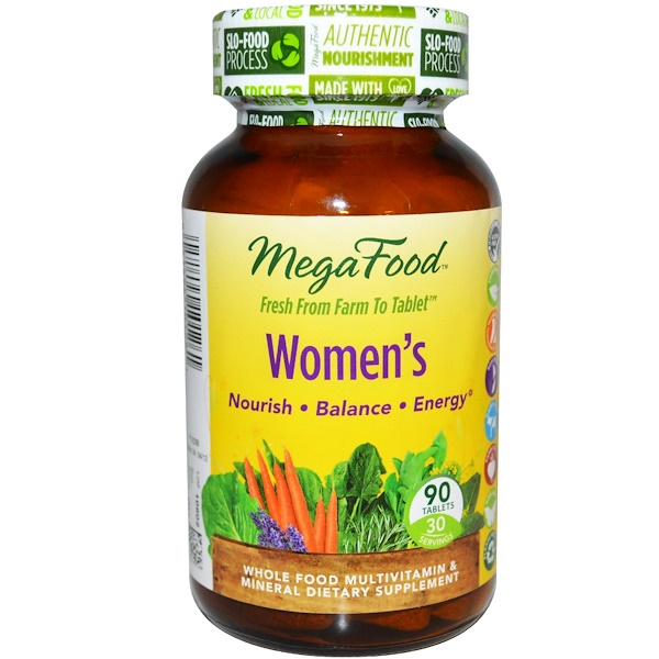 MegaFood, Women's, Multivitamins & Minerals, 90 Tablets (Discontinued Item)