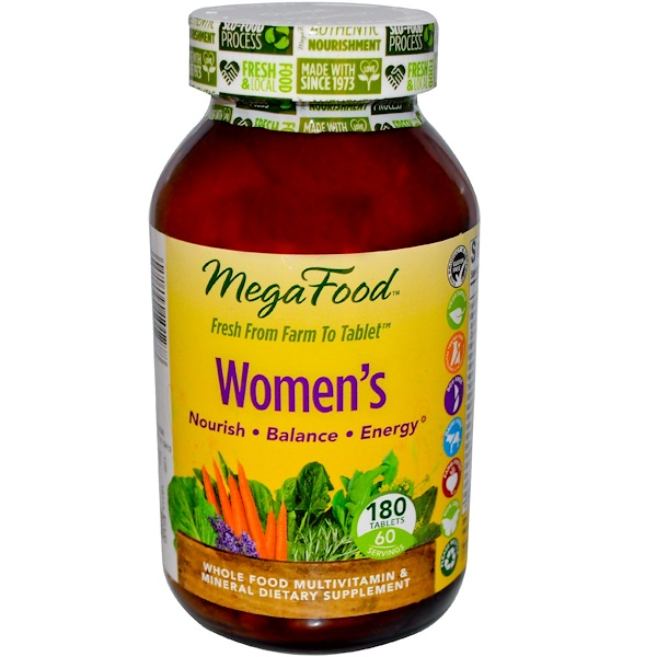 MegaFood, Women's, 180 Tablets (Discontinued Item)