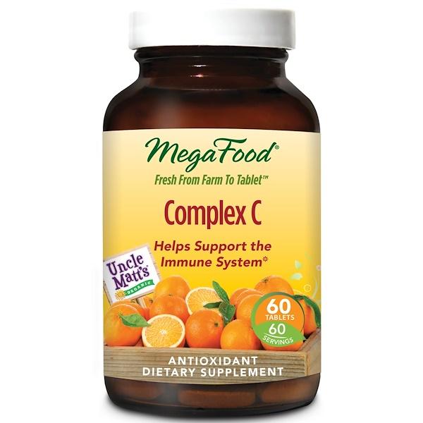 MegaFood, 複合維生素C ,60片