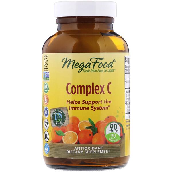 MegaFood, コンプレックス C, 90 錠