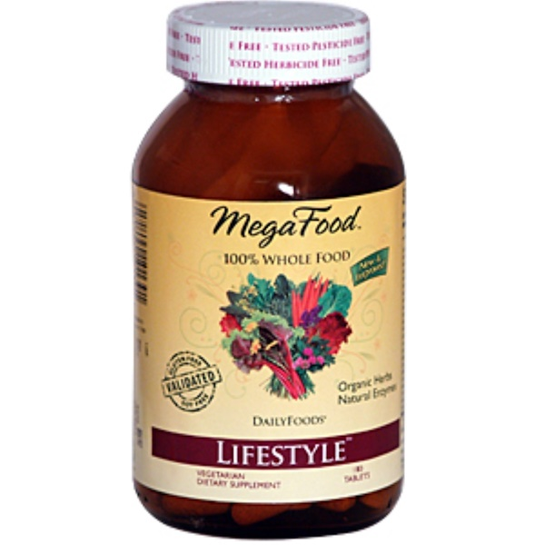 MegaFood, DailyFoods, LifeStyle, 180 Tablets (Discontinued Item)