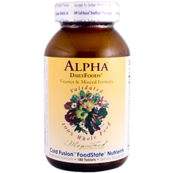 MegaFood, DailyFoods, Alpha, 180 Tablets (Discontinued Item)