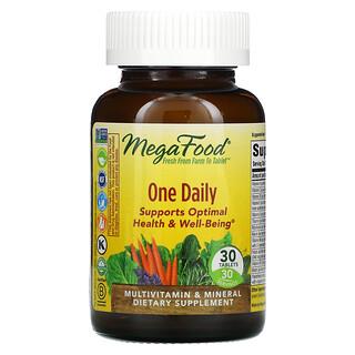 MegaFood, One Daily, витамины для приема один раз в день, 30таблеток