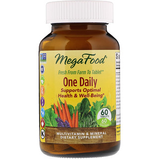 MegaFood, 1日1回で栄養を, 60 錠