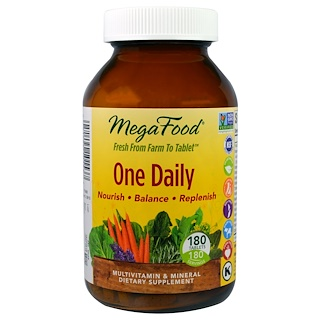 MegaFood, One Daily, 180 Tablets