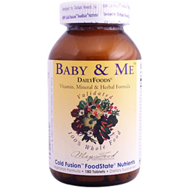 MegaFood, DailyFoods, Baby & Me, 180 Tablets (Discontinued Item)