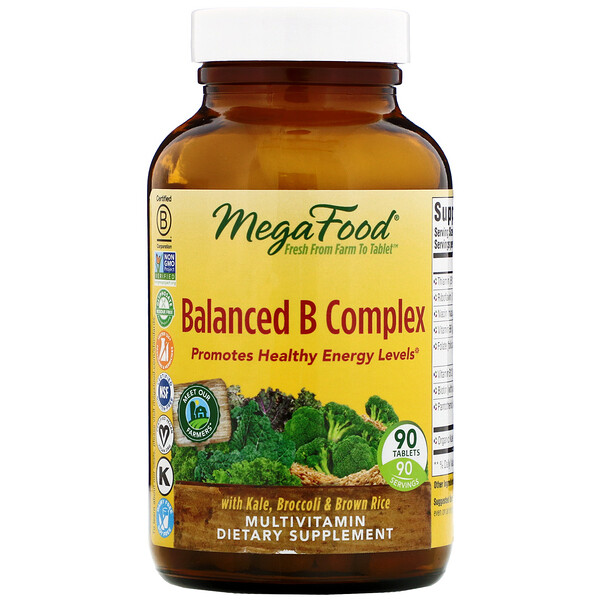 Balanced B Complex, 90 Tablets