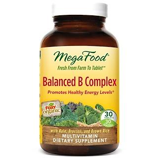 MegaFood, Balanced B Complex, 30 Tablets