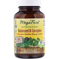 Сбалансированный комплекс витаминов В (Balanced B Complex), 60 таблеток - фото