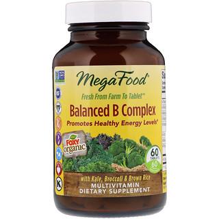 MegaFood, Сбалансированный комплекс витаминов В (Balanced B Complex), 60 таблеток