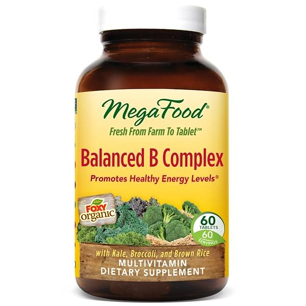 MegaFood, Balanced B Complex, 60 Tablets