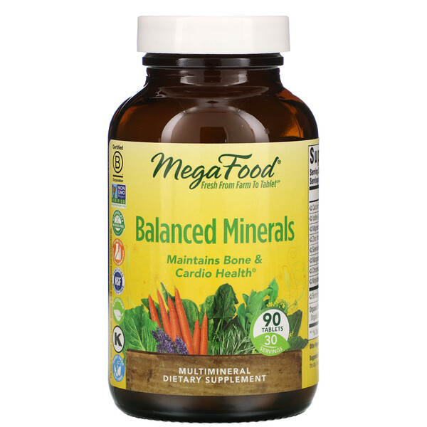 Balanced Minerals, 90 Tablets