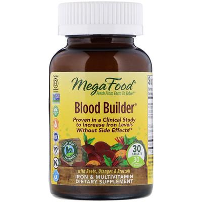 Купить Blood Builder, Iron & Multivitamin Supplement, 30 Tablets