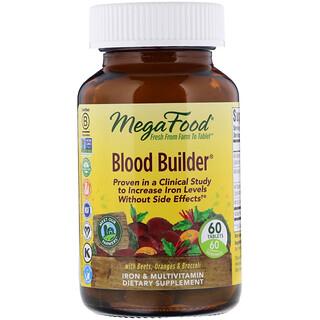 MegaFood, Blood Builder, Iron & Multivitamin Supplement, 60 Tablets