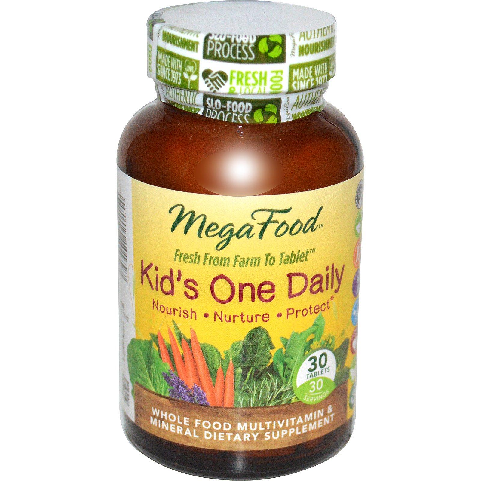MegaFood, Детский ежедневные витамины, 30 таблеток