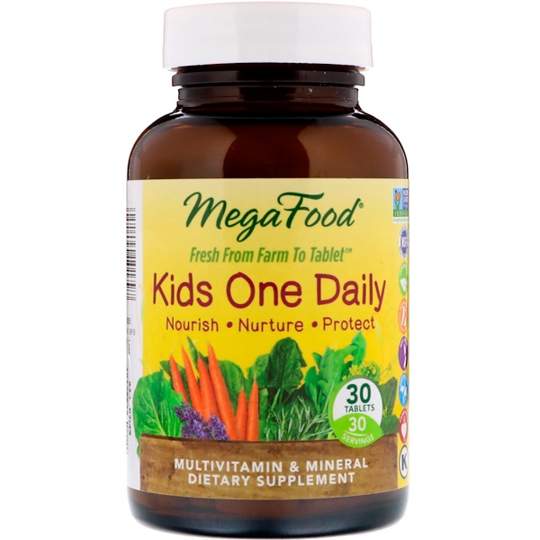 MegaFood, Kids One Daily, 30 Tablets