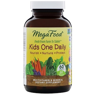 MegaFood, Kids One Daily, 60 Tablets