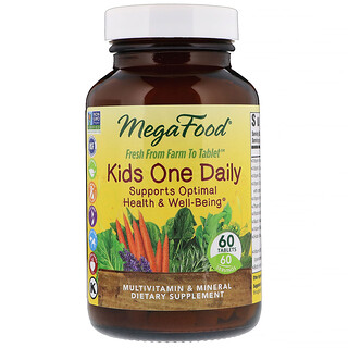 MegaFood, MegaFood, Kid's One Daily, 每日一片, 兒童維生素,60片