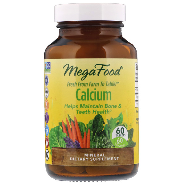 MegaFood, Calcium, 60 Tablets