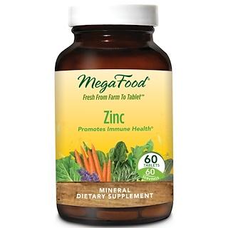 MegaFood, Zinc, 60 Tablets