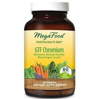 MegaFood, GTF Chromium, 60 Tablets