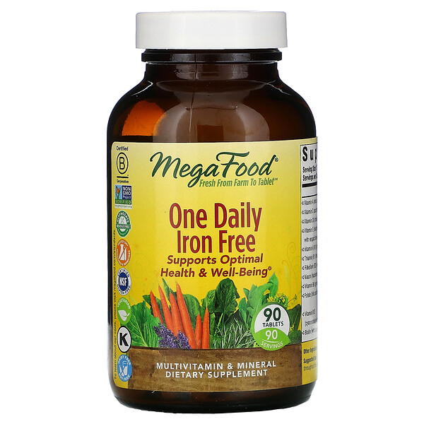 One Daily, Iron Free, 90 Tablets