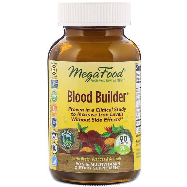 MegaFood, Blood Builder, 90 Tablets