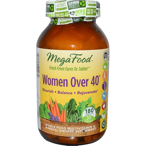 MegaFood, Women Over 40, 180 Tablets (Discontinued Item)