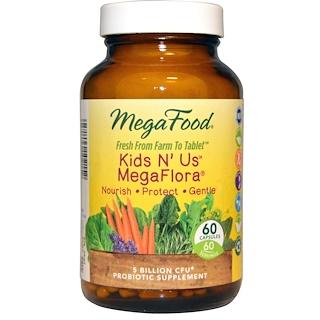 MegaFood, Kids N' Us MegaFlora, 60 Capsules