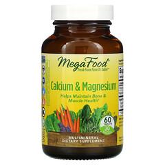 MegaFood, 鈣與鎂,60 片