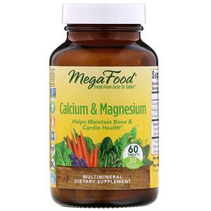 MegaFood, Calcium & Magnesium,  60 Tablets'