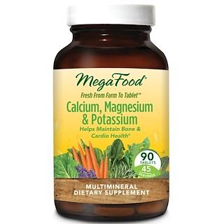 MegaFood, Calcium, Magnesium & Potassium, 90 Tablets