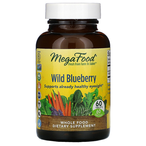 Wild Blueberry, 60 Tablets