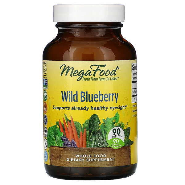 Wild Blueberry, 90 Tablets