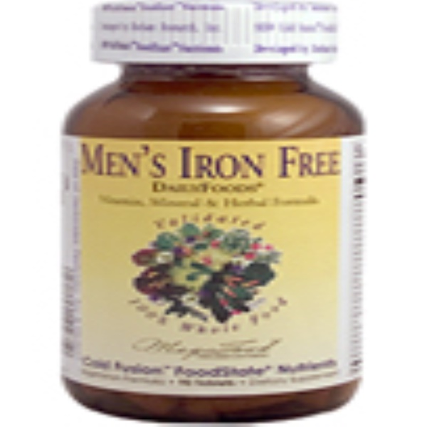 MegaFood, DailyFoods, Men's Iron Free, 90 Tablets (Discontinued Item)