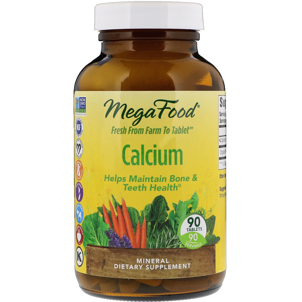 MegaFood, Calcium, 90 Tablets