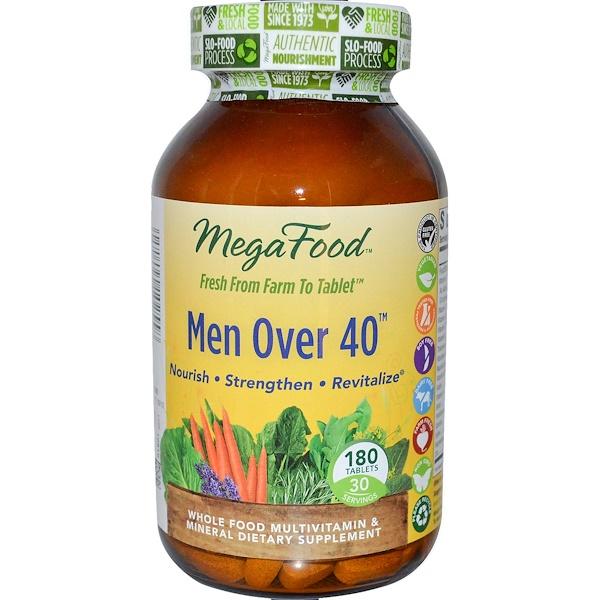 MegaFood, Men Over 40, Iron Free Formula, 180 Tablets (Discontinued Item)