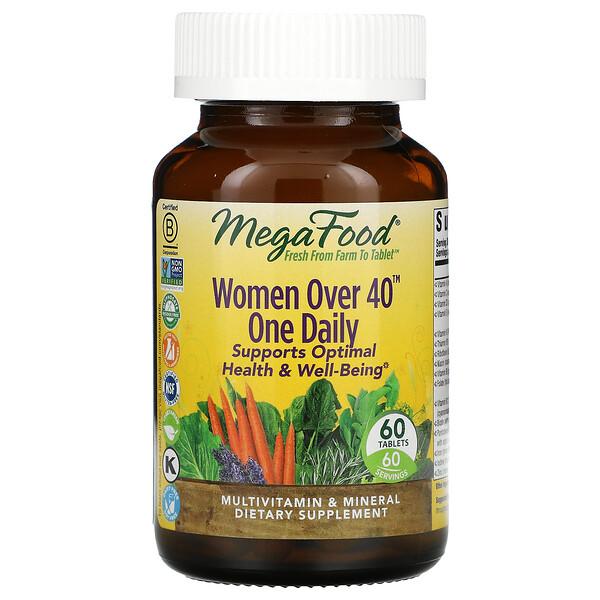 Women Over 40, мультивитамины для женщин старше 40лет, для приема один раз в день, 60таблеток