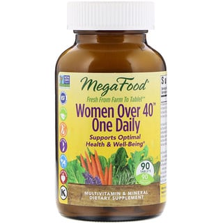 MegaFood, Women Over 40 One Daily, 90 Tablets