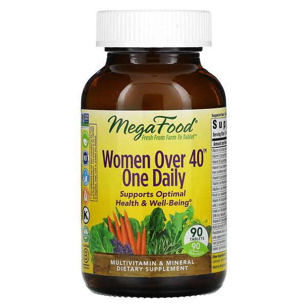 Women Over 40, мультивитамины для женщин старше 40лет, для приема один раз в день, 90таблеток