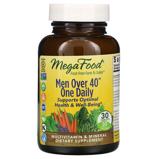 MegaFood, Men Over 40 One Daily,30 片