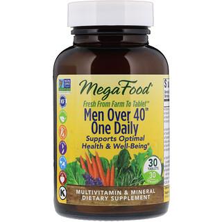 """MegaFood, Для мужчины старше 40 лет, """"Одна в день"""", формула без железа, 30 таблеток"""