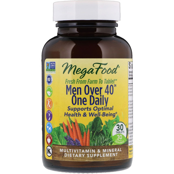 Men Over 40 One Daily, Iron Free Formula, 30 Tablets