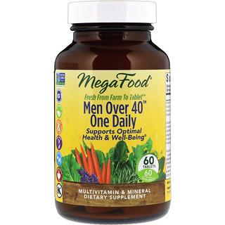 MegaFood, Для мужчин старше 40, по одной таблетке в день, без железа, 60 таблеток