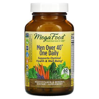 MegaFood, MenOver40, Hombres mayores de 40años, Un comprimido diario, 60comprimidos