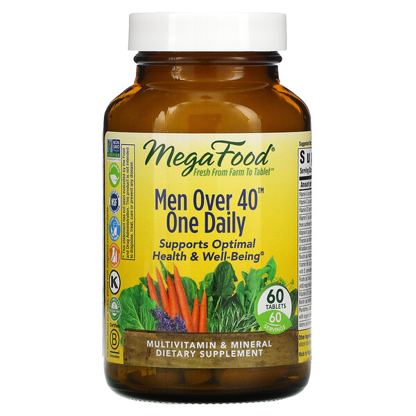 MegaFood, Men Over 40 One Daily, 60 Tablets