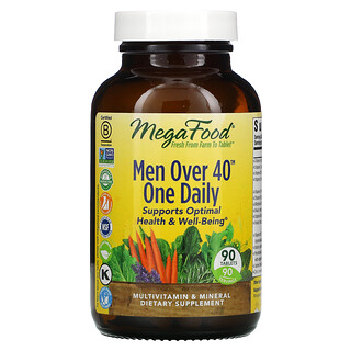 MegaFood, MenOver40, Hombres mayores de 40años, Un comprimido diario, 90comprimidos